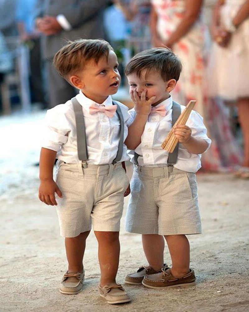 new style summer boys attire for beach wedding kid pageant