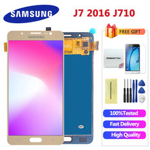 สำหรับ Samsung galaxy j7 จอแสดงผล lcd 2016 J710 SM-J710F J710M J710H J710FN จอแสดงผล LCD Touch Screen Digitizer Assembly(China)