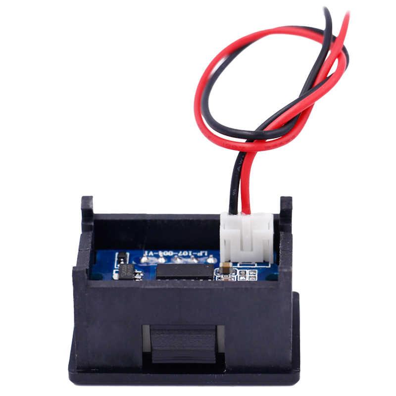 Новый Автомобильный светодиодный дисплей 0,36 дюйма 2 провода цифровой вольтметр постоянного тока 2,4 V-30 V дисплей вольтметра Напряжение АКБ для мотоциклов, тестер скидка 47%
