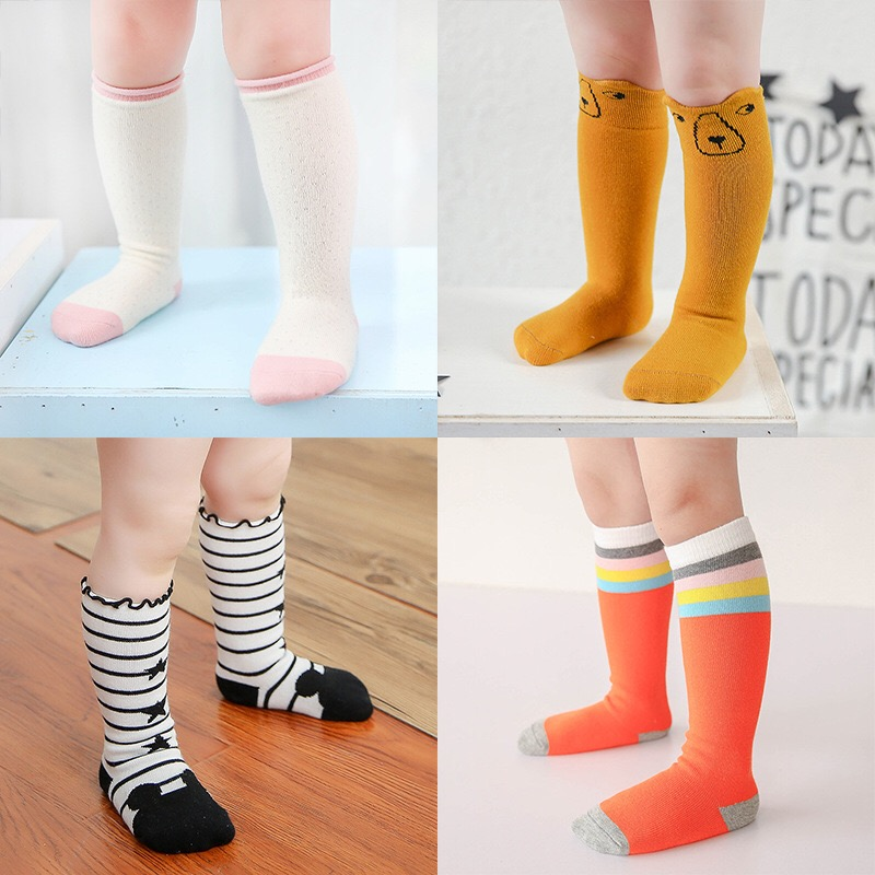 Kids-Long-Socks-Knee-High-toddler-Girls-Boot-Sock-Leg-Warmer-Cute-Cat-Black-baby-Cotton-Sock-for-baby-girls-sloth-socks-1