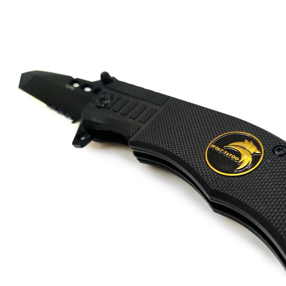 BGT fekete acél összecsukható kés taktikai vadászati - Kézi szerszámok - Fénykép 2