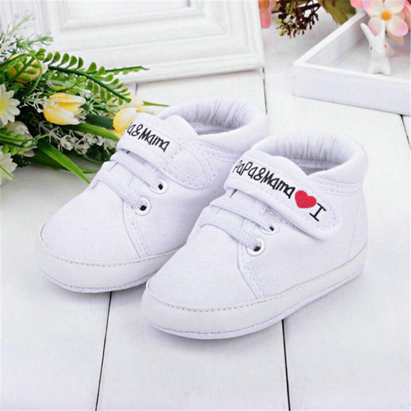 Newborn Infant Kids Baby Boys Girls Soft Bottom Canvas Sneaker Toddler Shoes