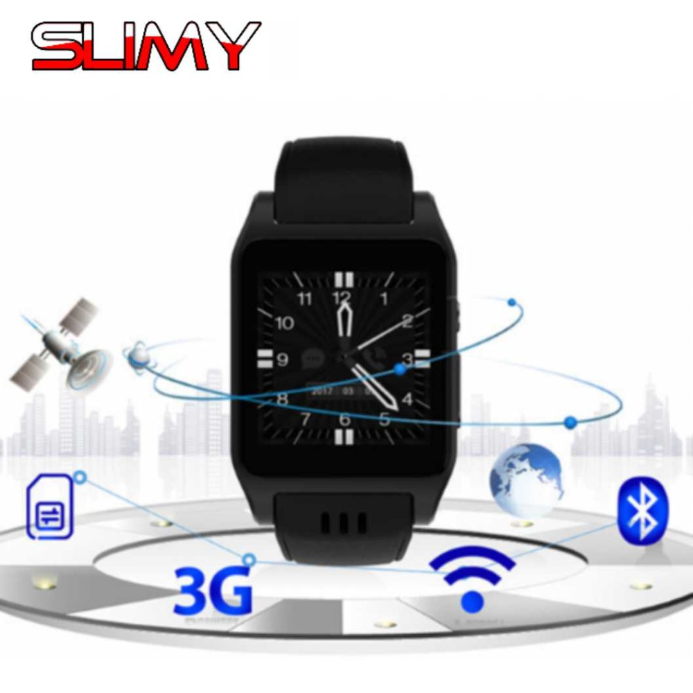 Slimy X86 Android 4 4 OS Smart Watch With Sim Card Slot Bluetooth Connectivity for Android
