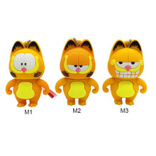 USB flash drive 128gb cartoon mini Garfield usb 2.0 4GB 8GB pen 16GB 32GB 64GB portable stick Pendrive free shipping