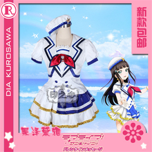 купить Anime Cosplay Costume Aqours Love Live Sunshine jumping heart Dia Kurosawa Coat dress  Full Sets A дешево
