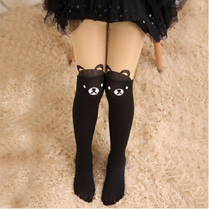 Spring-Autumn-Cute-Children-Kids-Baby-Girl-Little-Tights-Stockings-Knee-Tattoo-Velvet-Long-White-Cartoon-Kitten-Stockings-3