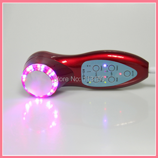 Free shipping 3Mhz Ultrasonic Ultrasound Facial Skin LIft Anti-aging Photon Led Therapy Care