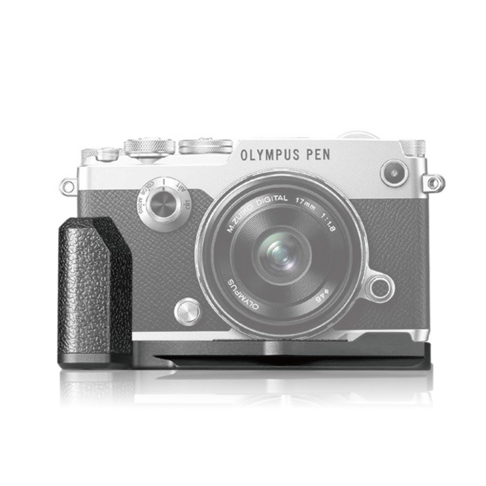 MEKE MK ECG4 Metal Black Camera Vertical Hand Grip L Plate for Olympus PEN F Mirroless Camera-in Battery Grips from Consumer Electronics    1