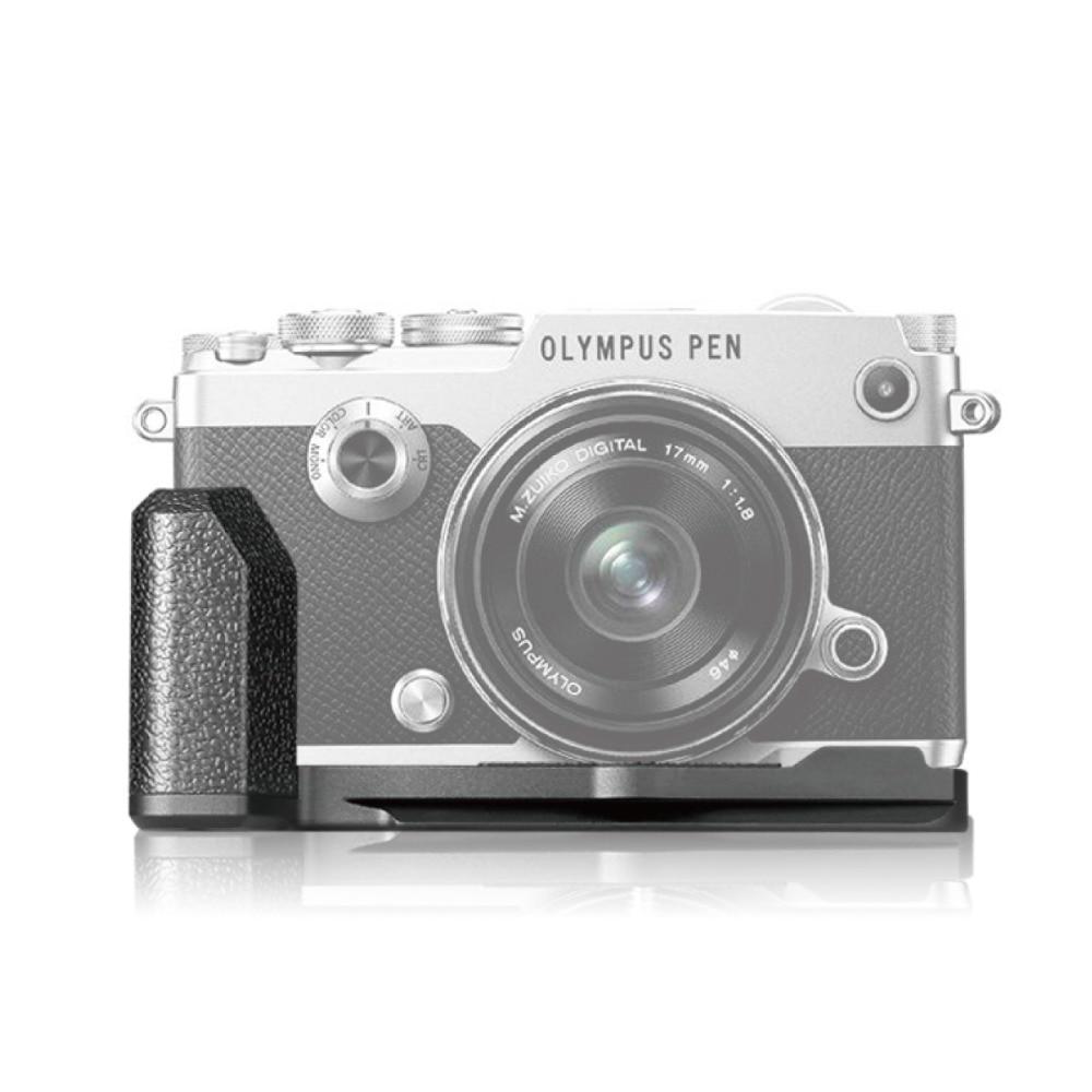 MEKE MK ECG4 Metal negro cámara Vertical empuñadura L placa para cámara Olympus PEN F sin espejo-in empuñadura de batería from Productos electrónicos    1