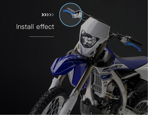Image 5 - CNC Aluminum Dirt Bike Motocross Pit Bike Pitbike Brake Clutch Levers For Kawasaki KLX450R 2008 2009 klx 450r