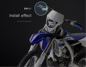 Image 5 - CNC אלומיניום מוטוקרוס אופני עפר בור אופני Pitbike בלם מצמד מנופי קוואסאקי KLX450R 2008 2009 klx 450r