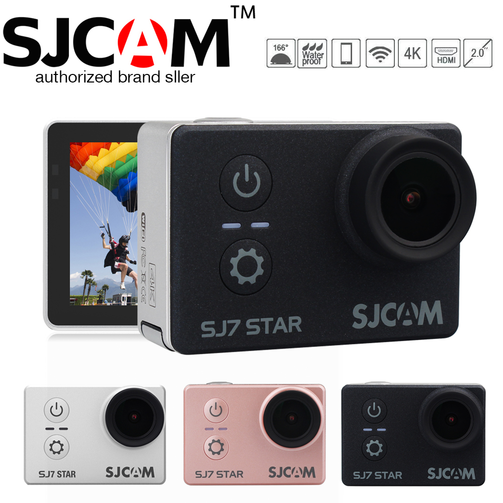Original SJCAM SJ7 STAR Wifi 4k 2'' Touch Screen Remote Ambarella A12S75 30M Waterproof Sports Action Camera Cam Mini DVR