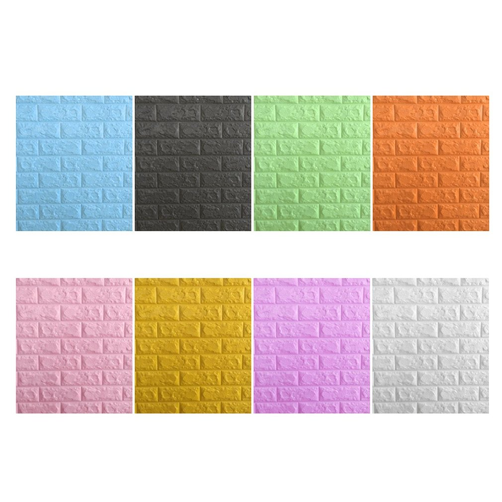 Wallpaper Colorful Foam 3D Brick Wall Stickers DIY Self ...