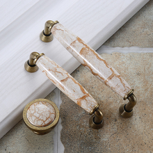 European Rice Point Ceramic Handle Modern Simple Cabinet Wardrobe Door Classical GardenEuropean Golden