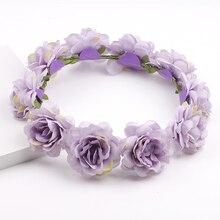 Spring Women Lady girls Wedding Flower Wreath Crown Headband Floral Garlands Hair band Accessories christmas hairband