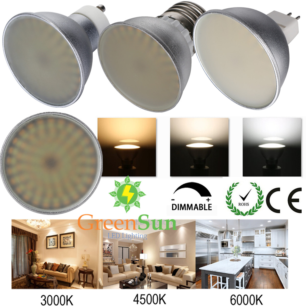 Best Color Temp For Shop Lights: 3W MR16 GU10 E27 LED Spotlight Spot Light Lamp Bulb 3014