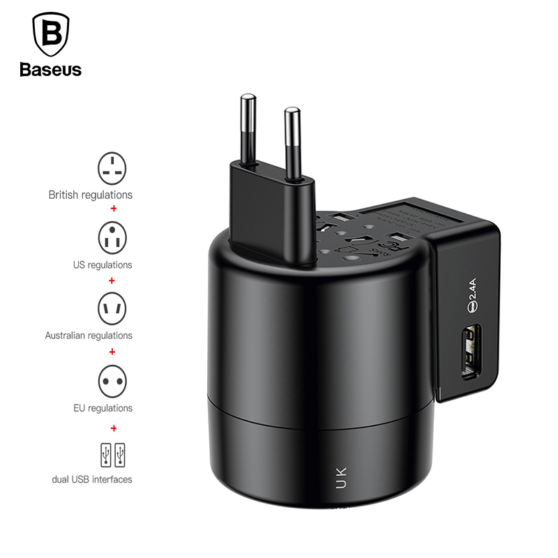 Samsung S8 Charging Adapter Laptop Usb Monitor Adapter Wifi Adapter Kmart Adapter Do Gniazdka Uk Media Markt: Baseus Universal USB Charger For IPhone X 8 Samsung S9 S8