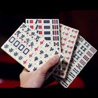 Small Travel Mahjong Mini Mahjiang 144pcs/Set,Funny Board Game With Box ,Play With Fmily/Party/Friends