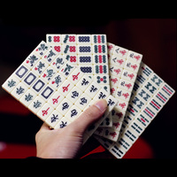 Small Travel Mahjong Mini Mahjiang 144pcs/Set,Funny Board Game With Box ,Play With Fmily/Party/Friends