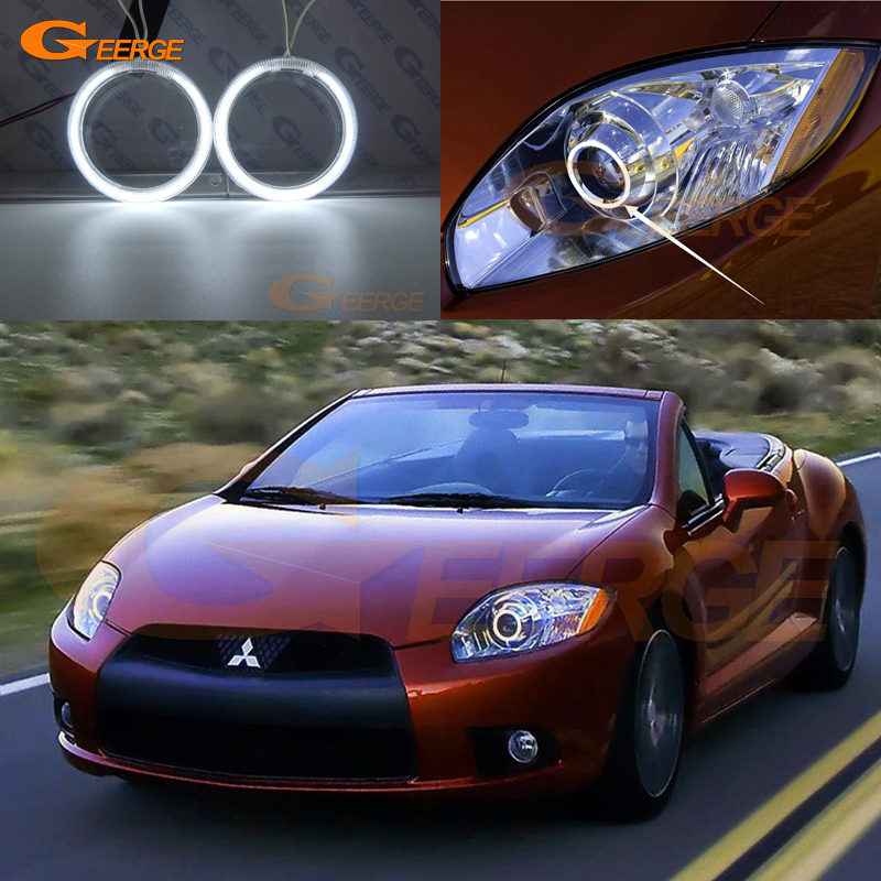 For Mitsubishi eclipse 2009 2010 2011 XENON HEADLIGHT Excellent Ultra bright illumination CCFL Angel Eyes kit Halo Ring