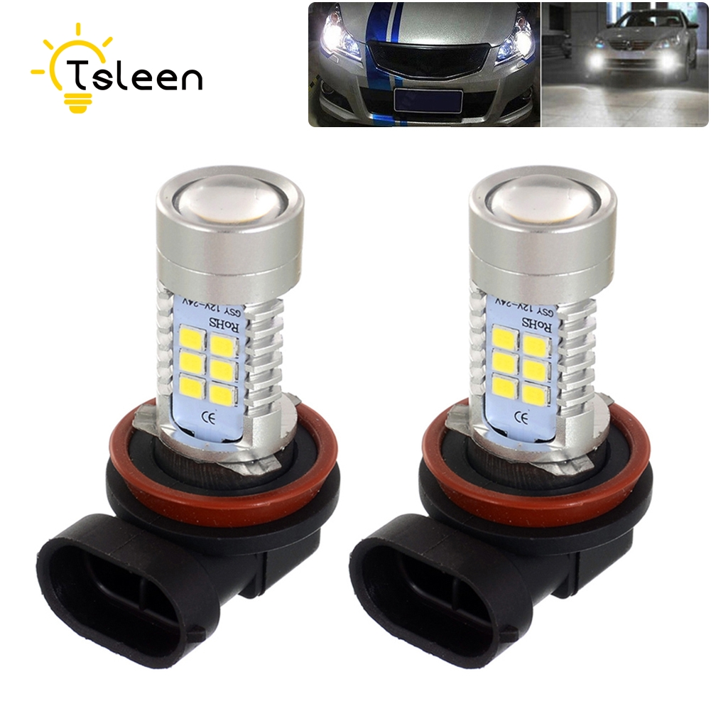 TSLEEN 2/4/8 Pieces Auto DRL Fog Xenon Lamp H11 H8 Front Light Car Headlight Bulbs 2835 SMD 360 Car Led Lamps White 6000K 12V cyan soil bay h11 h8 2835 66 smd led 6000k auto projector fog daytime driving light bulb white red amber car bright than 33 smd