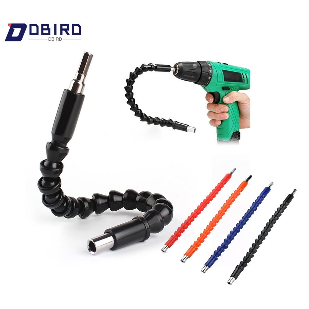 DBIRD Tools 4-colors 295mm Flexible Shaft Bits Extention Screwdriver Bit Holder Connect Link Electronics Drill 1/4