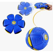 The New UFO Frisbee Ball Step Ball Vent Ball Led UFO Magic UFO Ball Deformation Outdoor Toys Children's Christmas Gift