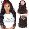 7A Top Peruvian Lace Frontal 360 Lace Frontal Body Wave Lace Frontals With Baby Hair 360 Lace Virgin Hair Human Hair No Tangles