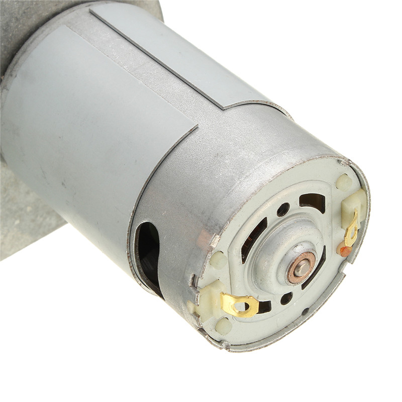High Torque Metal Gear Motors Silver Dc 12v 6000rpm Square