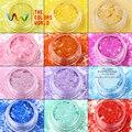 TCHHT-001 Mezclar Colores Hexágono formas Brillo resistente a los disolventes para el arte del clavo, gel de uñas, esmalte de uñas maquillaje y la decoración de DIY
