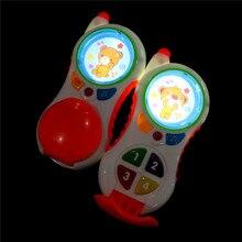 Brinquedos engraçados do bebê com som e luz, criança, aprendizagem de telefone, estudo, bebê, telefone celular, brinquedos educativos, promoção de brinquedo