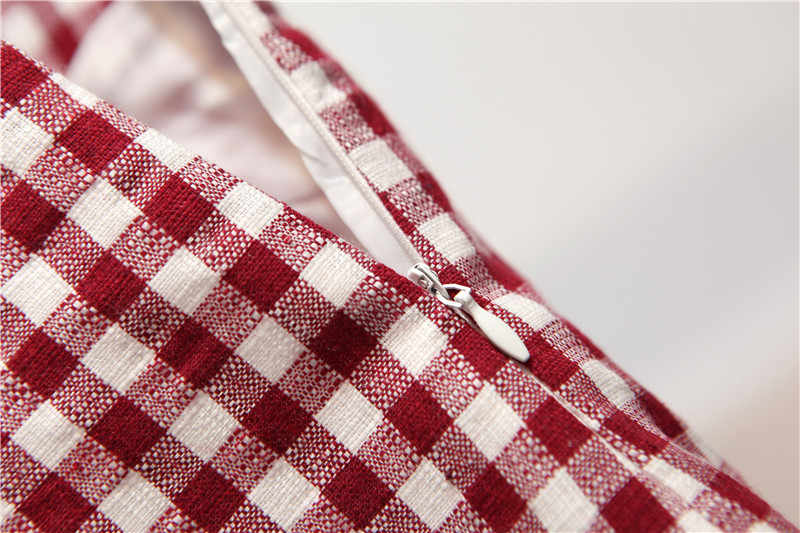 9f2c4b0666d9b Flectit Gingham Mini Skirt Women Red and White Check Casual Plaid A Line  Empire Short A-Line Skrit Summer