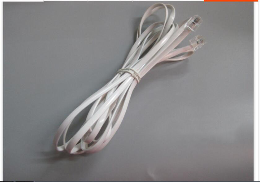 4 Wire Phone Cord Fax Phone Cable Two Core Indoor Soft