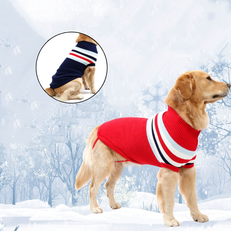 Striped Dog Sweater Dogs Clothes For Small Medium Large Dogs Coats Jackets 2019 Comfortable Pet Dog Clothing For Puppy Overalls in Dog Coats Jackets from Home Garden