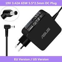 ASUS V 19V 3.42A 65W 5 5*2 5mm AC adaptador de corriente para portátil cargador de viaje para Asus X45A X501A X550 X 550ZA X550LA F555 F555LA ADP-65AW