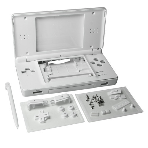 White Full Repair Parts Replacement Housing Shell Case Kit For