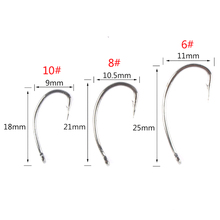 100pcs/lot 6#/8#/10# Crank hook Stainless Steel Fishing Hook Set in Fly Fishhook For Sea Tackle High Quality Accessories
