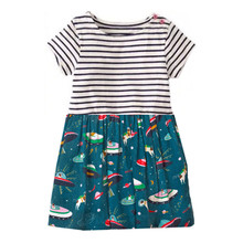 Jumping meters Baby Brand Girl dresses Space children clothes tunic stripe kid clothing 2019 summer hot selling baby girls dress