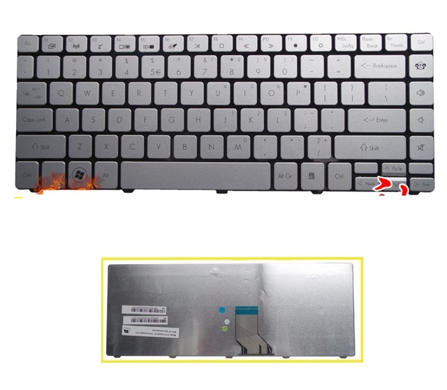 Nuevo teclado ee.uu. para Gateway EC39 ID49 ID49C ID43 ID43A03c TM8481 NELA0 ID49C15c ID43A08c ID49C04c ID43A05C teclado del ordenador portátil