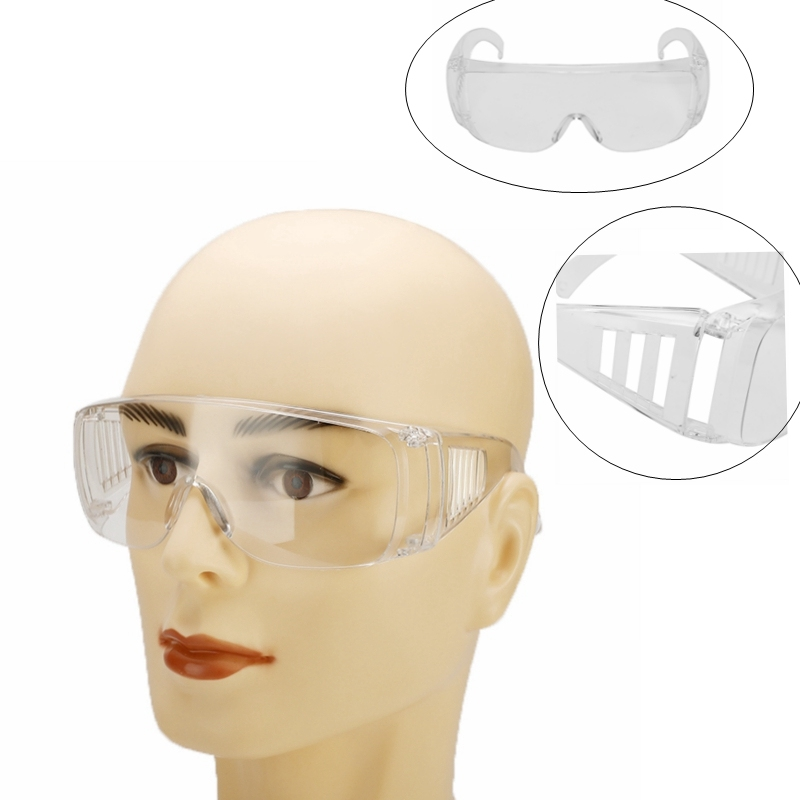 Anti-dust Factory Lab Work Eye Protective Safety Goggles Glasses Clear Anti-impact Lightweight Spectacles Outdoor