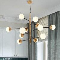 Современная люстра в скандинавском стиле минималистичные креативные светодиодные свисающие светильники, спальни, ресторана, молекулярные