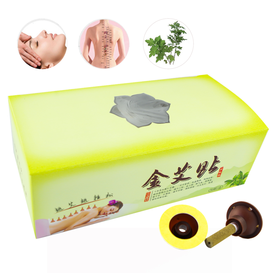TCM Moxa Acupuncture Candle Stick Moxibustion Tube Meridians Wormwood Micro smoke Body Massage relaxant patch font