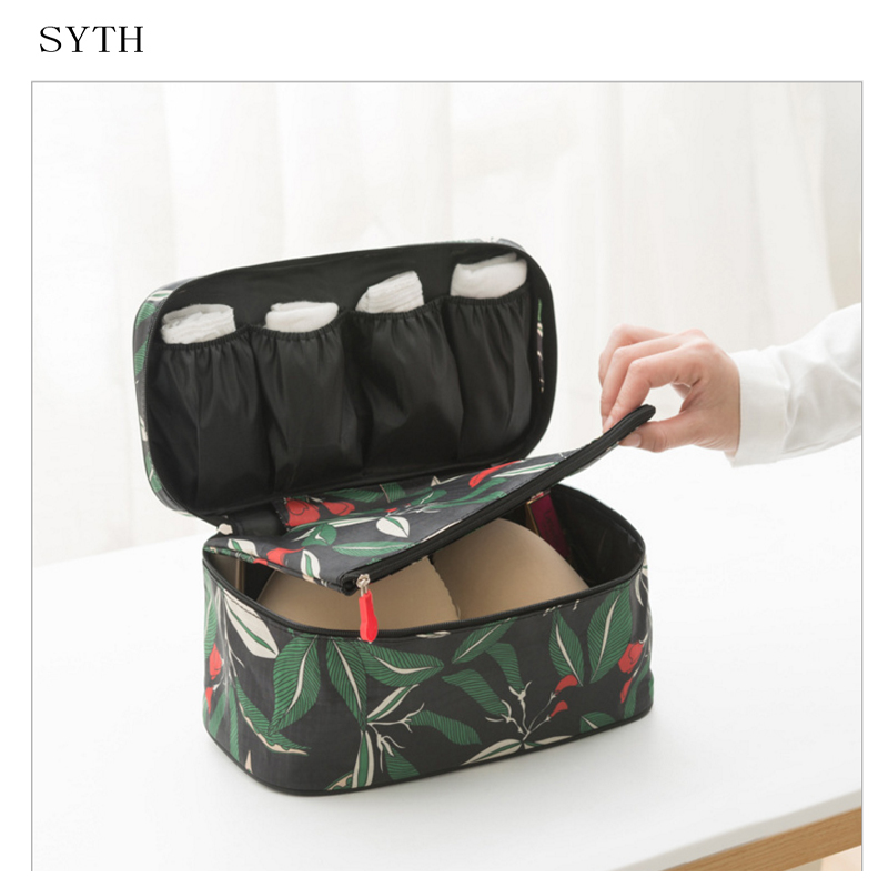 SYTH New Generation Travel Bra Bags Nylon Waterproof Underware Packing Organizers Women Business Trip and travel Necessary