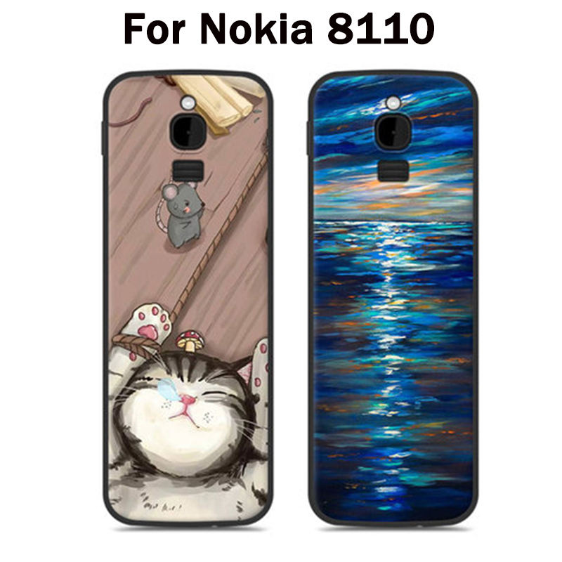 online store 9e273 5b68a US $4.95 30% OFF|For Nokia 8110 Case cute cartoon Silicone soft back cover  for Nokia 8110 4G Patterned Phone Cases For Nokia TA 1059 shell coque-in ...