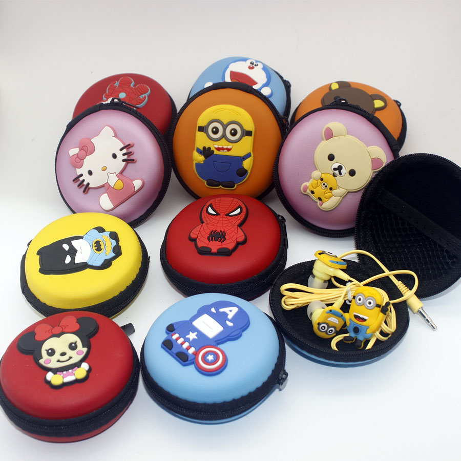 Despicable Me Minions headset Cartoon In ear Wired 3 5 mm Hello Kitty mickey avengers alliance