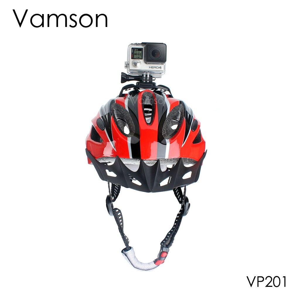 Go Pro Accessories Holder Helmet Head Adapter Strap Belt Mount Black Adjustable For Gopro Hero 4 3+ 2 1 Xiaomi yi Camera  VP201