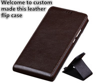 RL05 Genuine Leather Vertical Flip Case For Huawei P Smart Vertical Phone Up And Down Cover For Huawei Enjoy 7S Cover