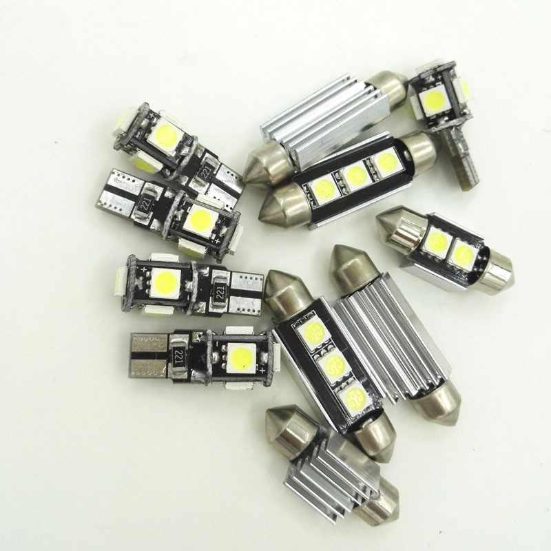 9 Uds xenón blanco de luz LED bombillas de coche Kit de paquete de interiores para 2003, 2004, 2005, 2006, 2007 Mitsubishi Lancer mapa cúpula lámpara del tronco