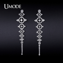 UMODE 2016 New Arrival Trendy Crystal Dangle Earrings For Women Jewelry Fashion Boucle D'Oreille Femme Christmas Gifts AUE0233