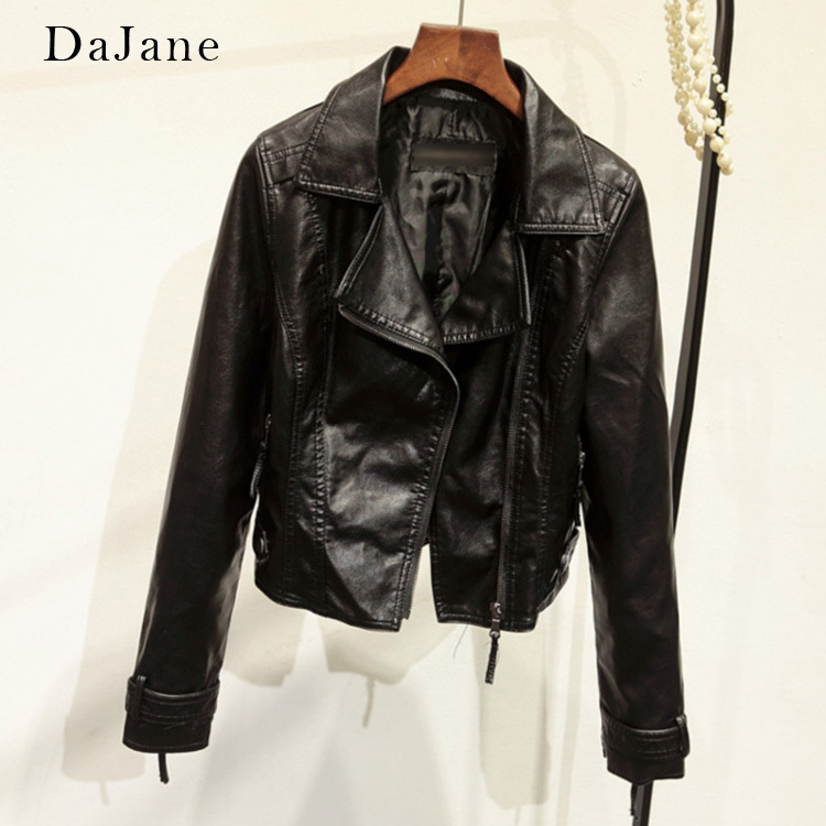 New Explosion Models Haining Ladies Pu   Leather   Short Section Slim Coat Motorcycle Clothing   Leather   Jacket Korean Version   Leather
